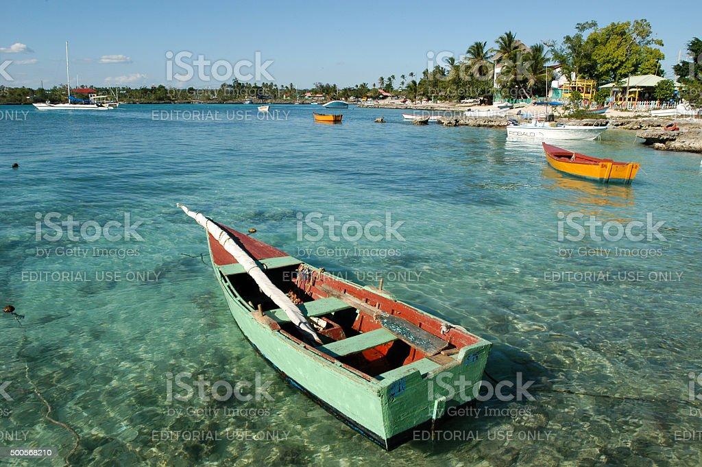 La costa de Bayahibe en República Dominicana - foto de stock