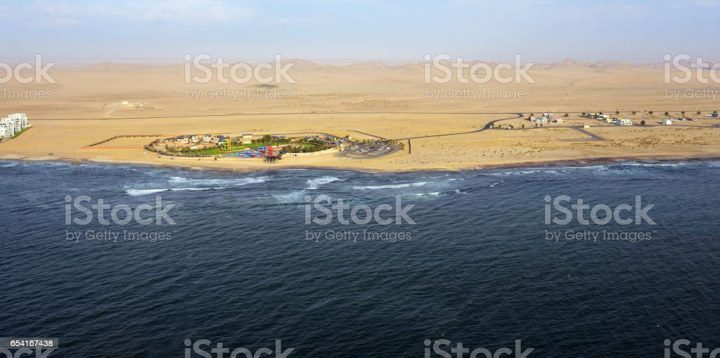 The coast in Namibia stock photo