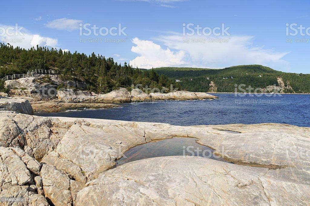 The coast near Tadoussac, Canada stock photo