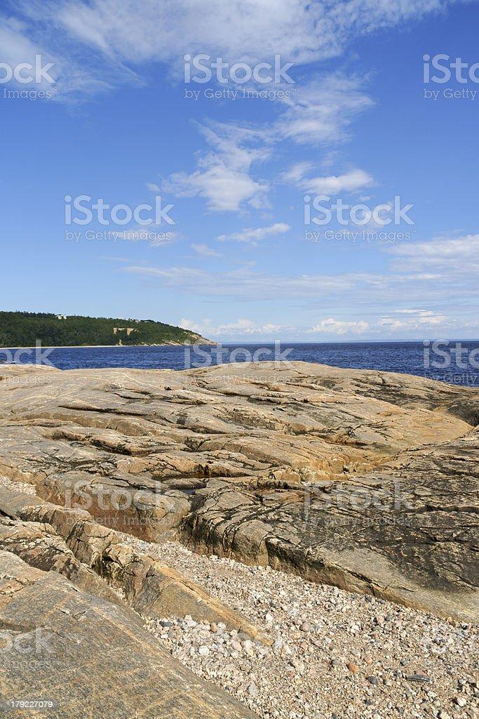 The coast near Tadoussac, Canada royalty-free stock photo