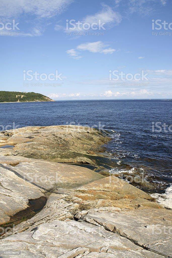 The coast near Tadoussac royalty-free stock photo