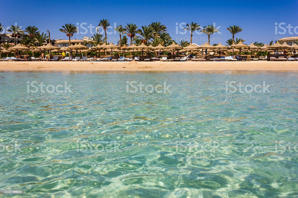 the coast of Africa in Egypt by sea stock photo