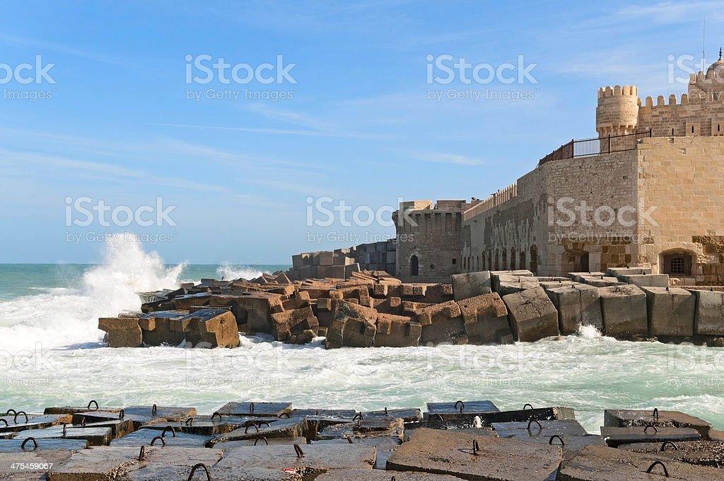 A costa de Alexandria - foto de acervo