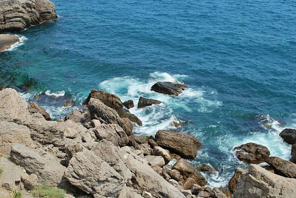 the coast of Crimea stock photo