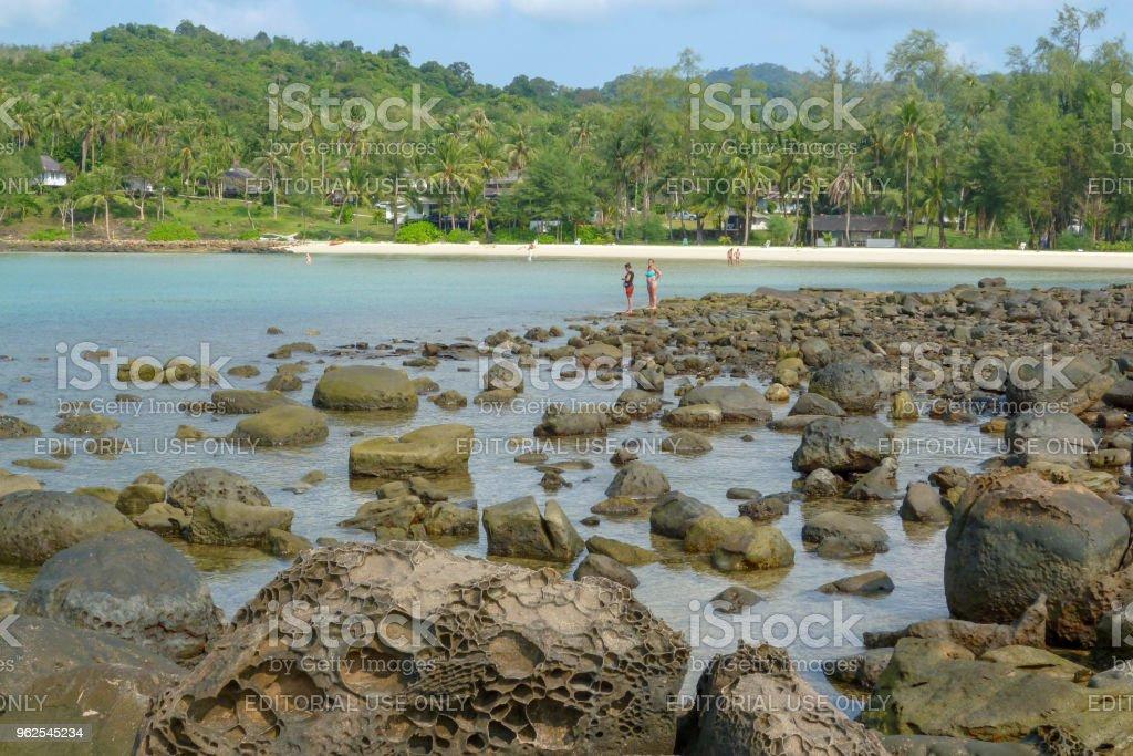 A ilha da costa de Koh Kood - Foto de stock de Areia royalty-free