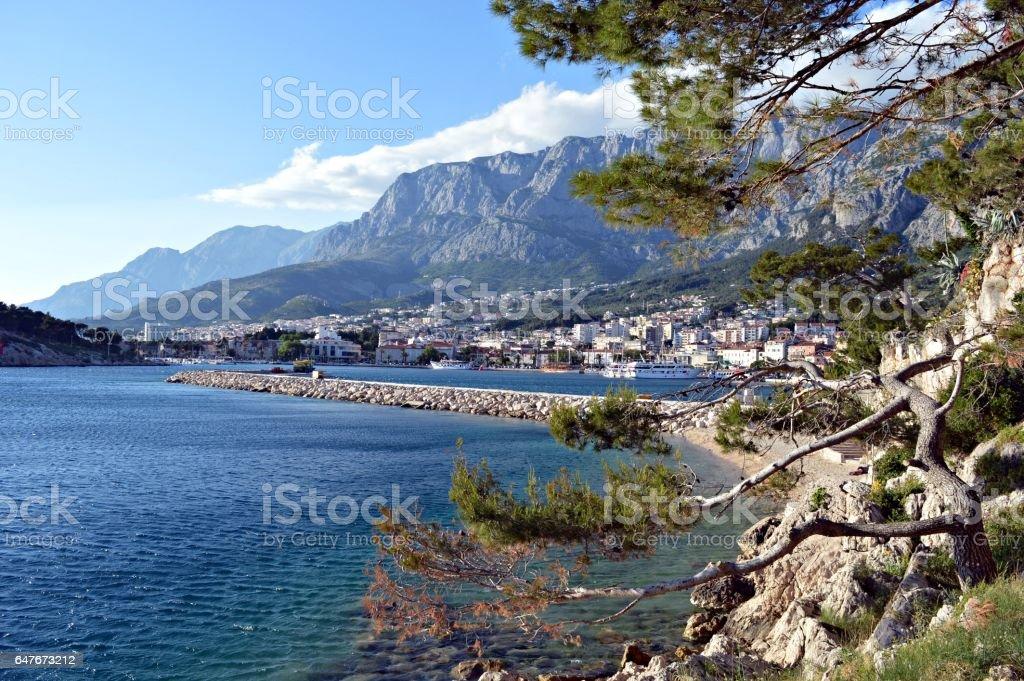 The Coast of Makarska in Croatia stock photo