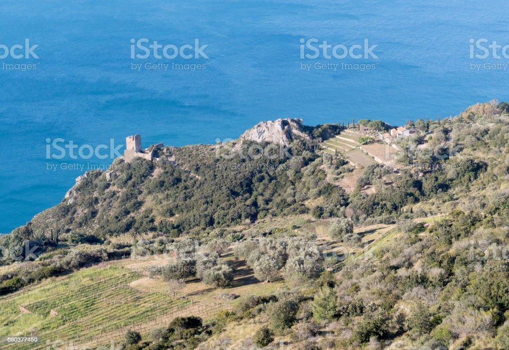 The coast of Monte Argentario, Tuscany stock photo