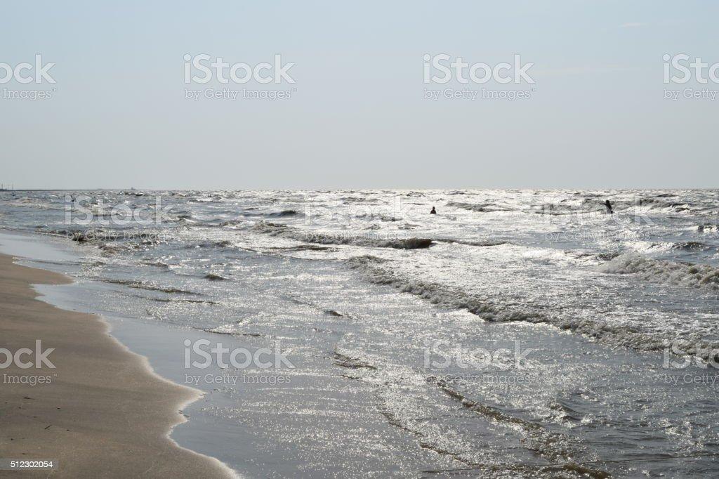 The coast of Sea Azov stock photo
