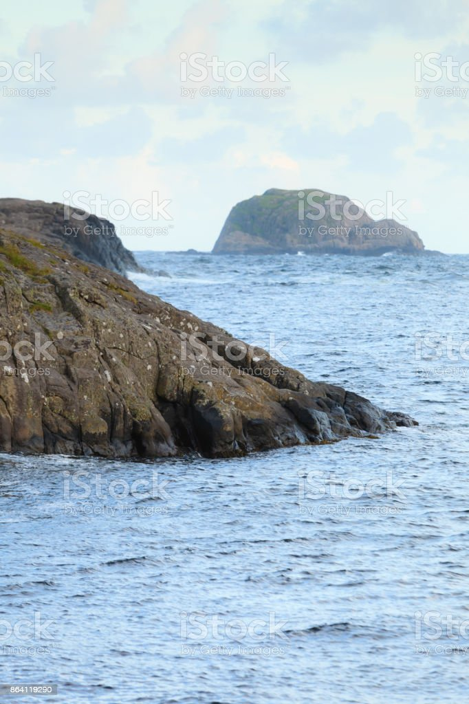 The coast of southern Norway with an ocean view royalty-free stock photo