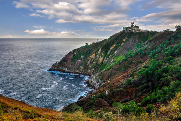 The coast of the Bay of Biscay stock photo