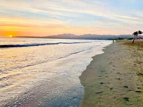 Sunset of the Pacific from Puerto Vallarta, Jalisco.