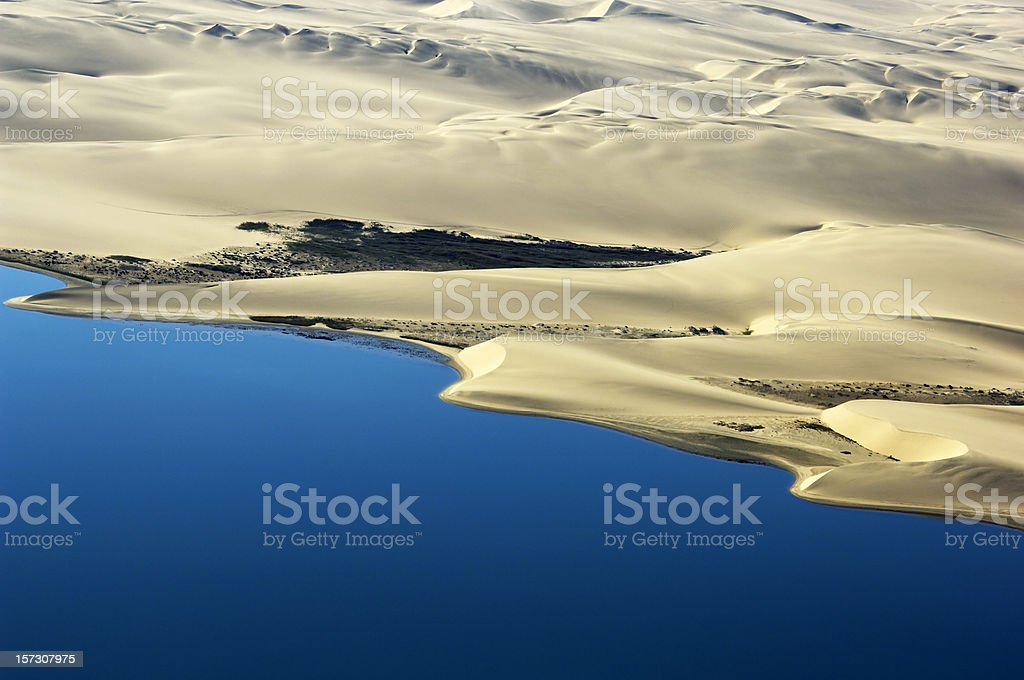 The coastline near swakopmund stock photo