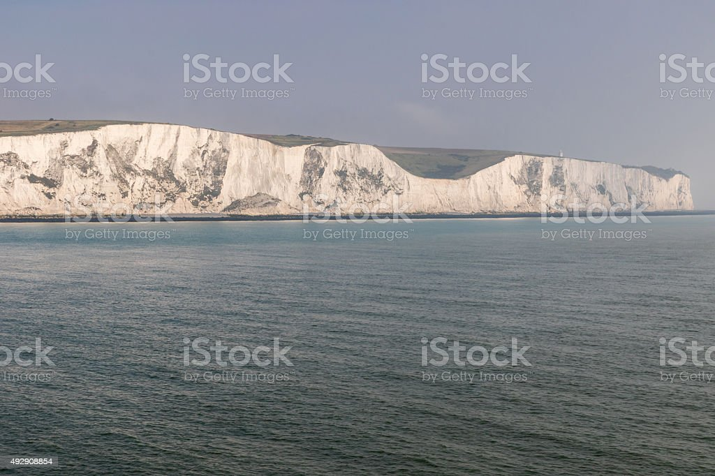 The coastline with cliffs near the Dover stock photo