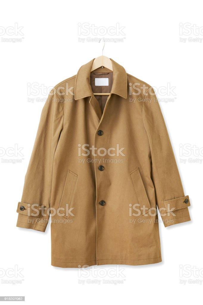 the coat on white stock photo