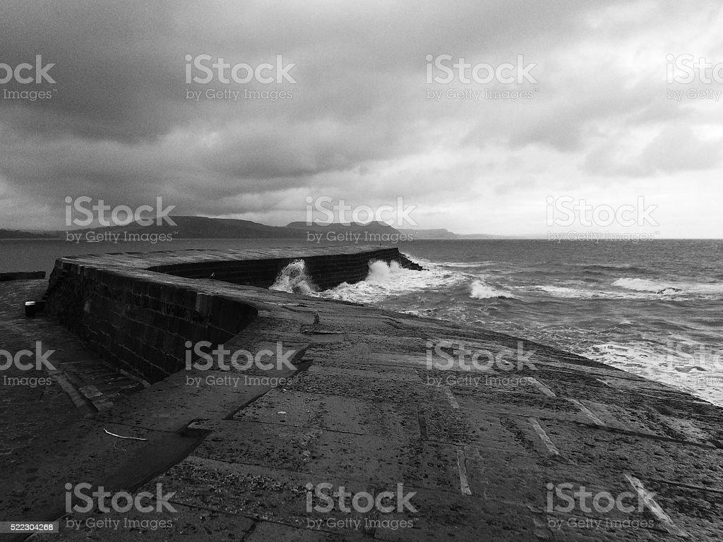 The Cob at Lyme Regis stock photo