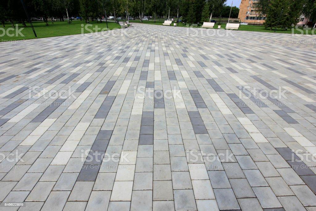 the cobblestones in the city stock photo