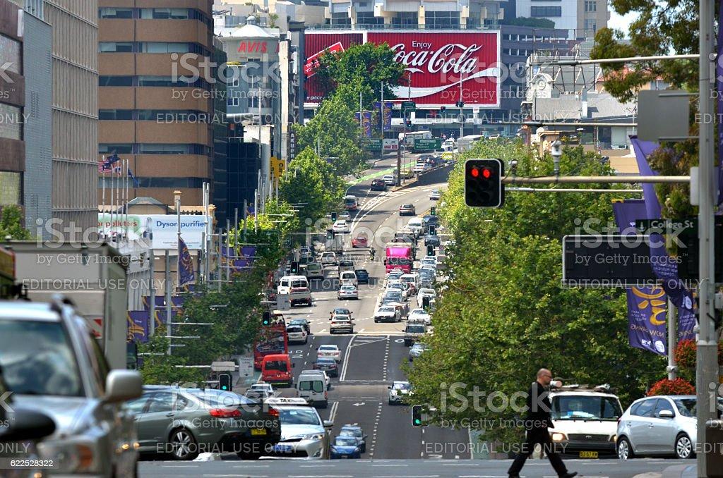 The Coca-Cola Billboard above Kings Cross Station in Sydney, Australia stock photo