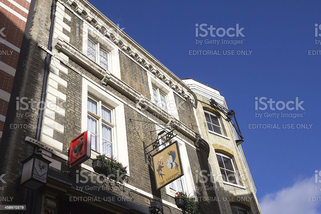The Cockpit Pub in London, England royalty-free stock photo