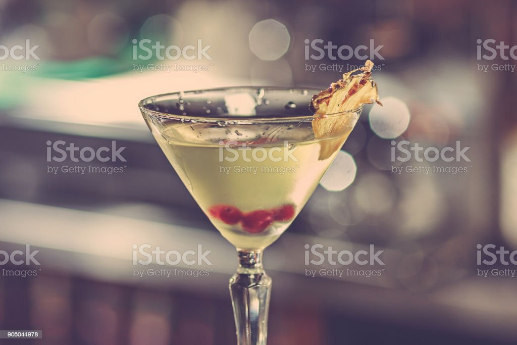 The cocktail in the bar