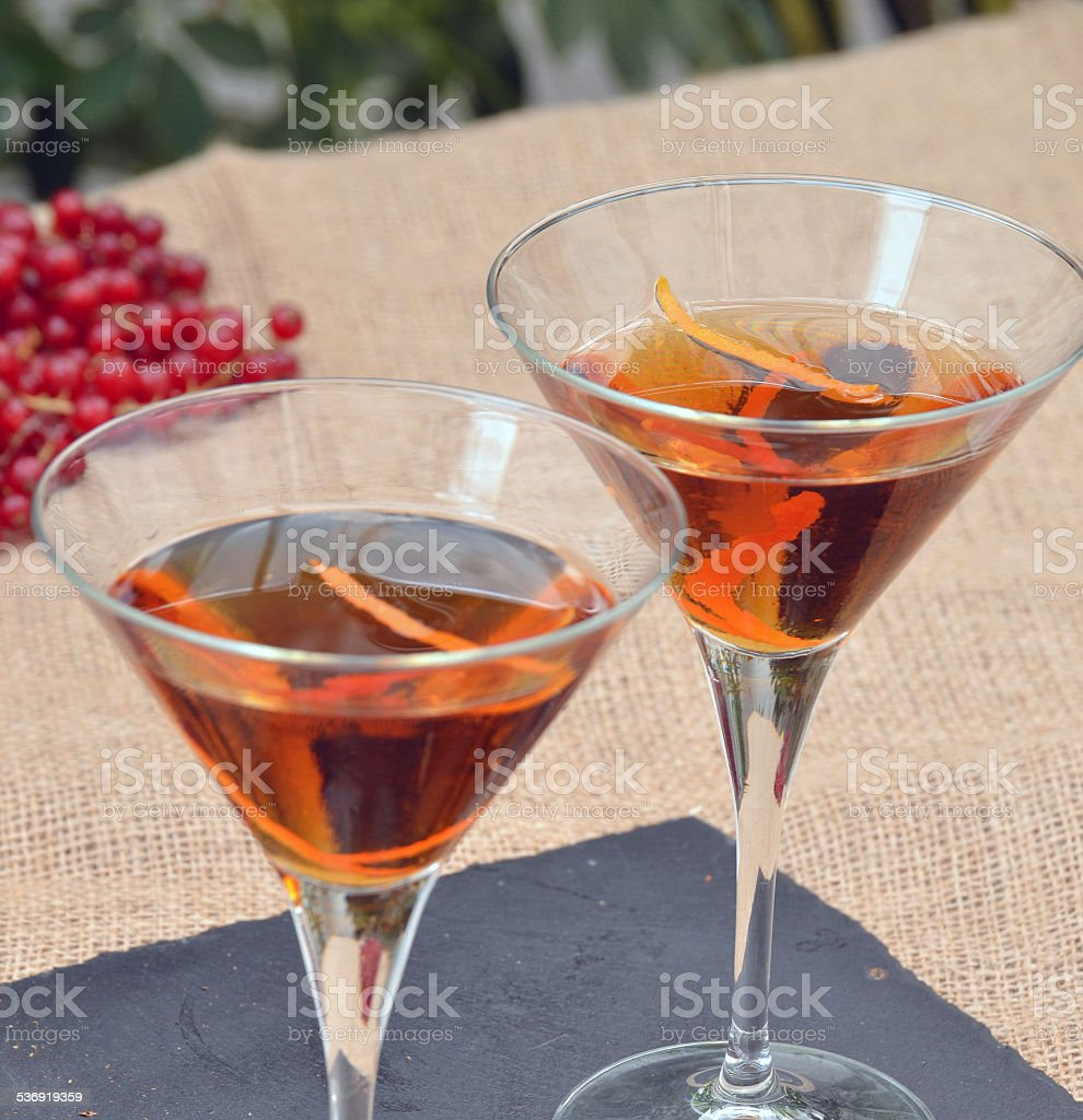 The cocktail. stock photo