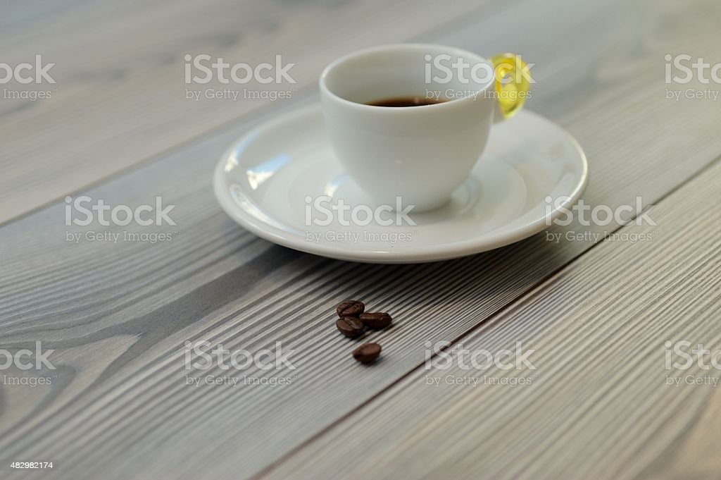 The coffee plant and its fruit. stock photo