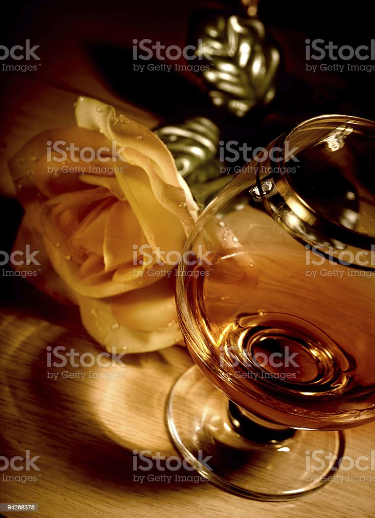 The Cognac royalty-free stock photo