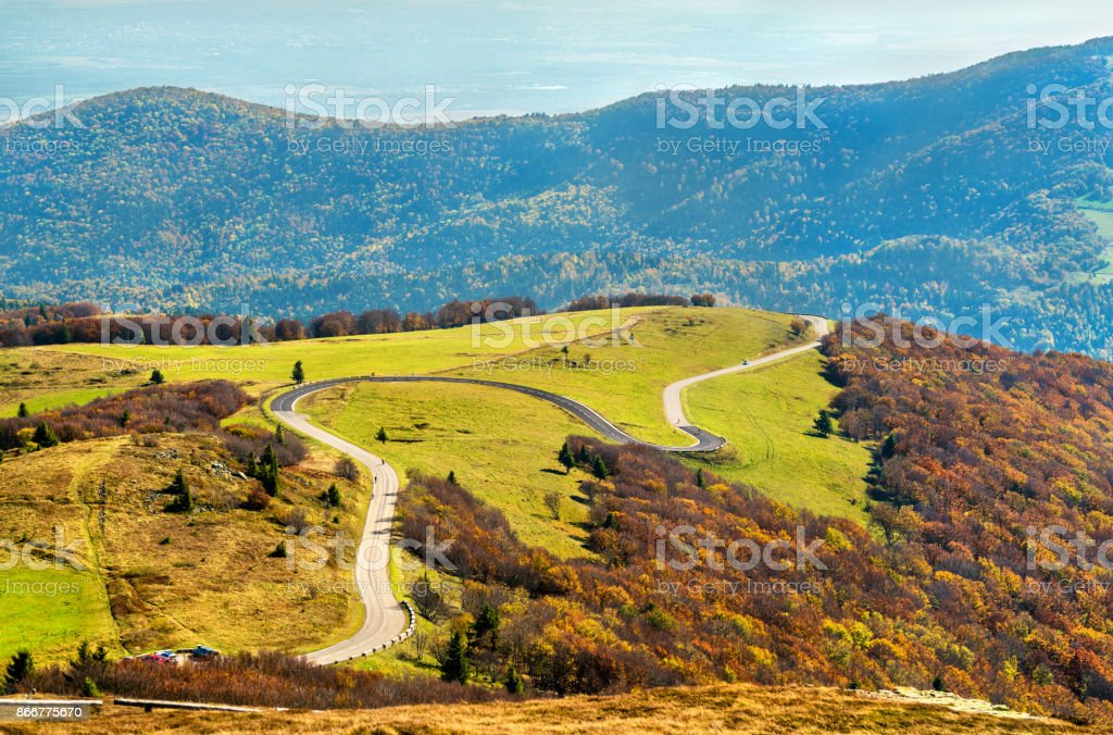 The Col du Grand Ballon, a mountain pass in the Vosges Mountains - Alsace, France - foto stock