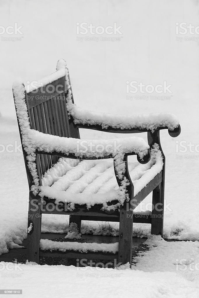 The cold seat with text space royalty-free stock photo