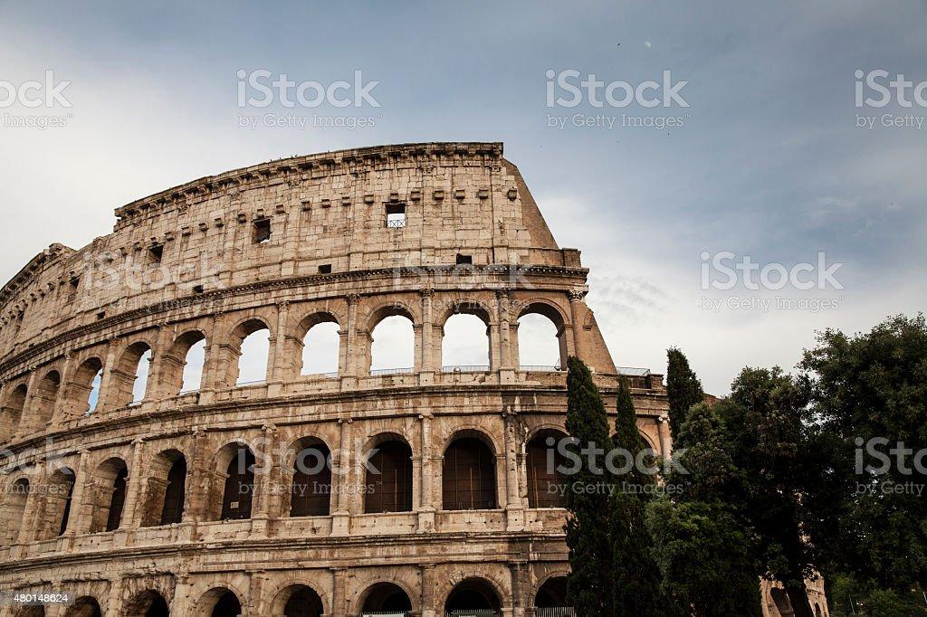 The Coliseum in Rome stock photo