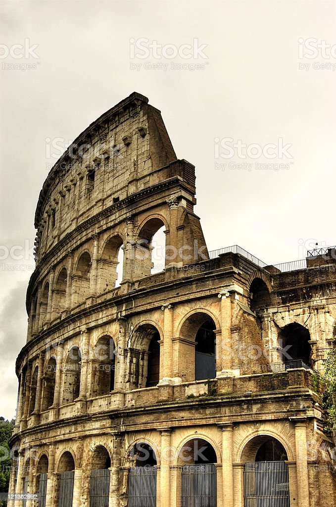 The Coliseum, Rome, Italy stock photo