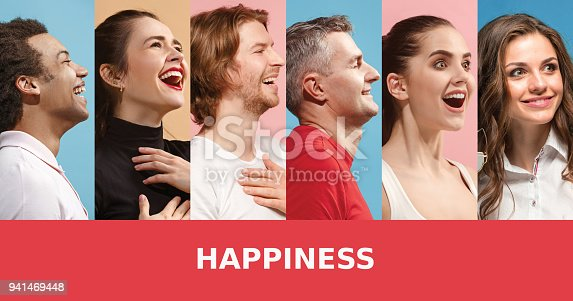 istock The collage of surprised people 941469448