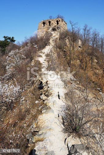 the collapse of the road to the beacon tower of the great wall