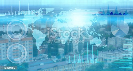 1019164310istockphoto the collection of world data and its processing by artificial intelligence and the distribution of the Internet of things for successful business 1195391801