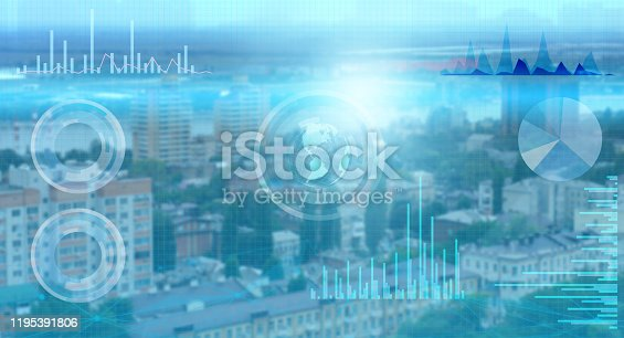 1019164310istockphoto the collection of world data and its processing by artificial intelligence and the distribution of the Internet of things for successful business 1195391806