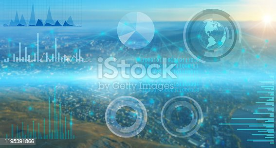 1019164310istockphoto the collection of world data and its processing by artificial intelligence and the distribution of the Internet of things for successful business 1195391866
