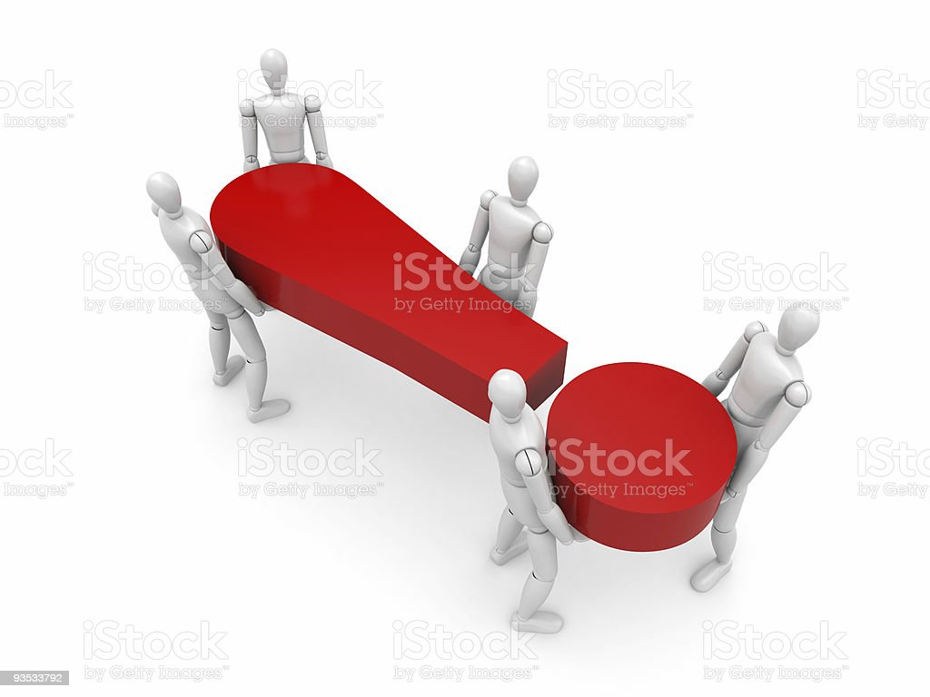The collective tries to draw attention! royalty-free stock photo