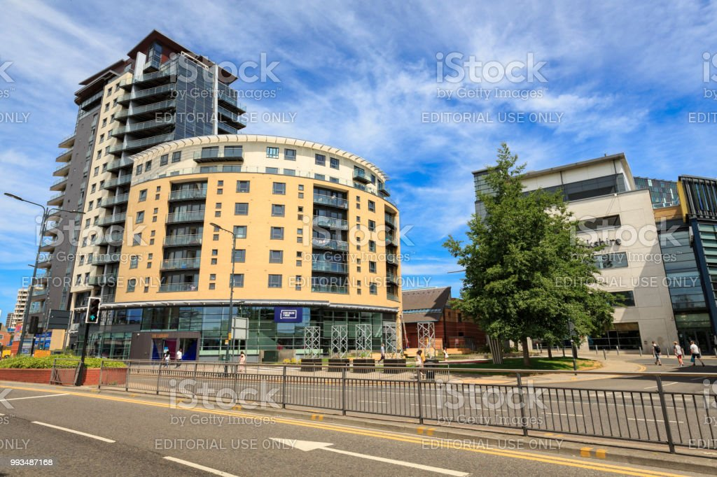 The College of Music and BBC Yorkshire Broadcasting Centre in Leeds stock photo