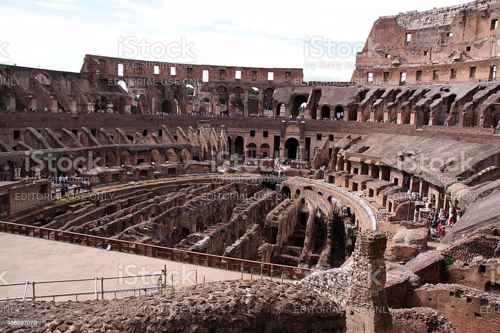 The Colloseum in Rome, Italy stock photo