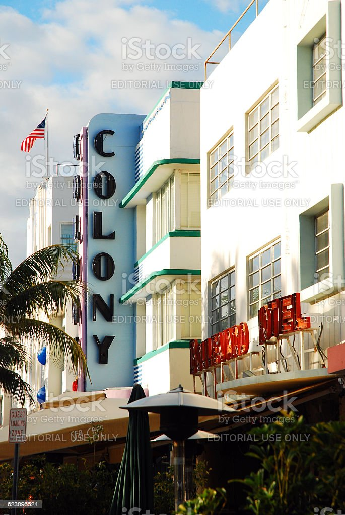 The Colony and Boulevard Hotels stock photo