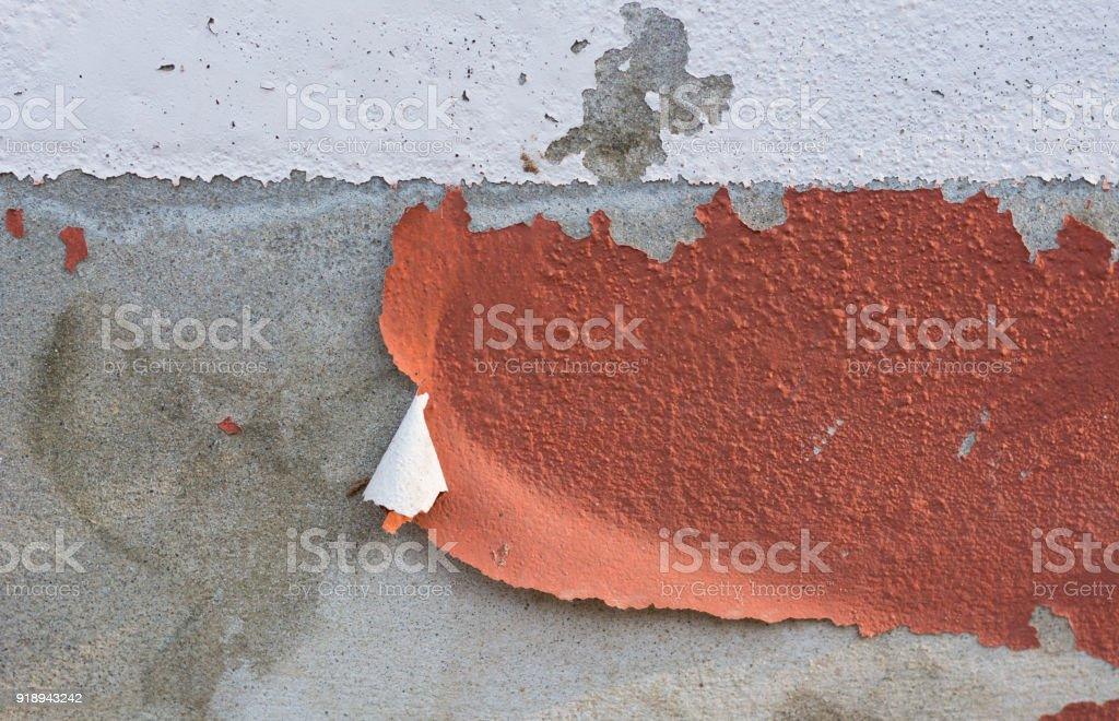 The color of the wall disappeared. stock photo