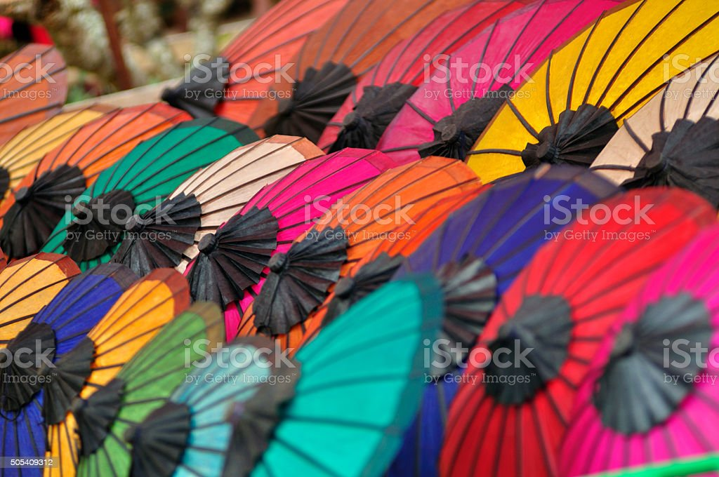 The color of umbrella stock photo