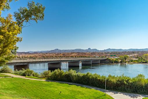 The Colorado River Bridge between Laughlin, Nevada and Bullhead City, Arizona