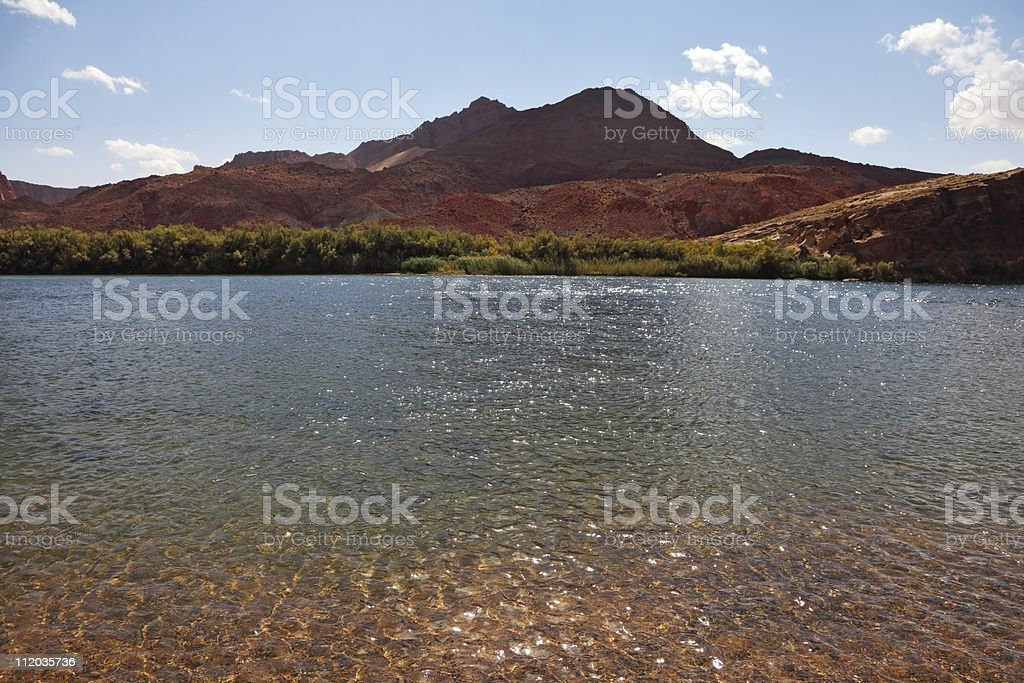 The Colorado River royalty-free stock photo