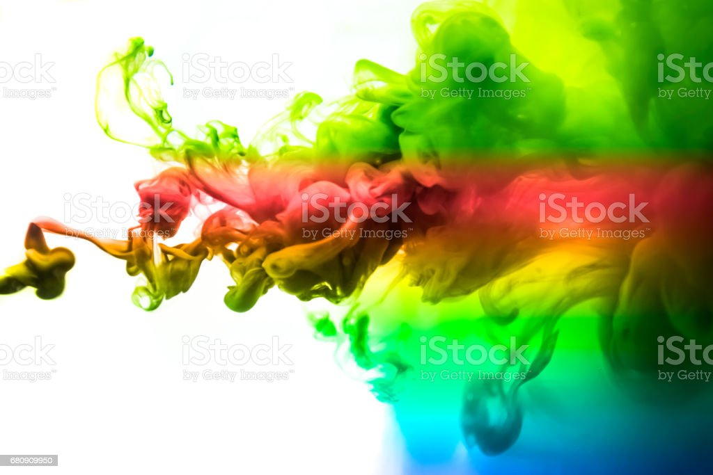 The colorful dye in the water. Abstract. background. Wallpaper. Concept art royalty-free stock photo