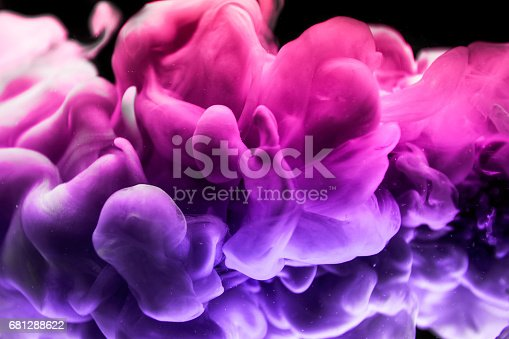 istock The colorful dye in the water. Abstract. background. Wallpaper. Concept art 681288622