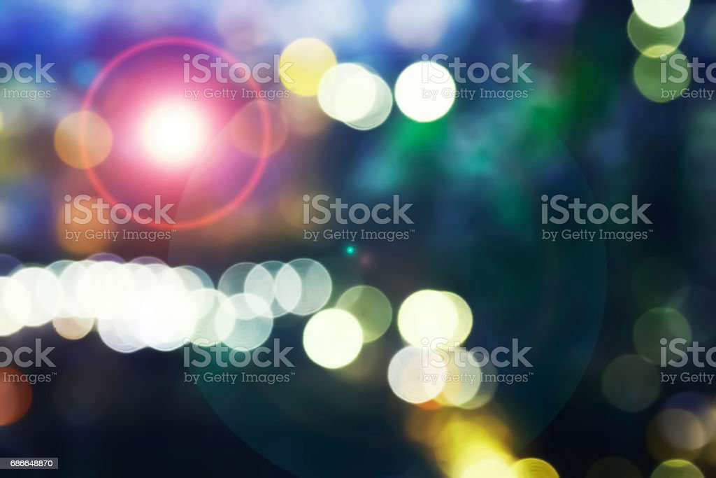 The Colorful image of beautiful Bokeh and flare lighting effect. royalty-free stock photo