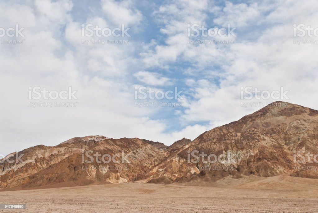 Badlands Formations in Badwater Basin stock photo