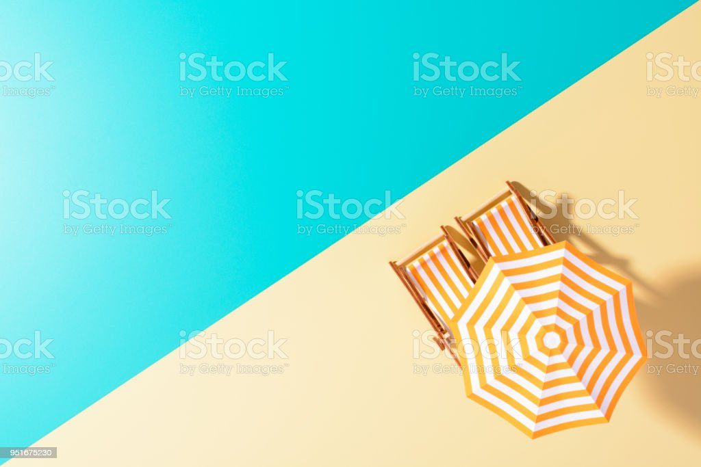 The colorful layout of beach theme stock photo