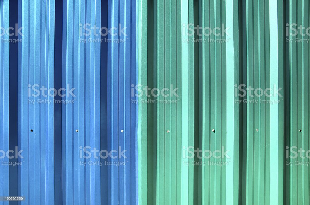 The Colorful roof metal royalty-free stock photo