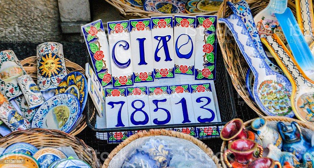 Il colorato siciliana ceramica fotografie stock e altre immagini